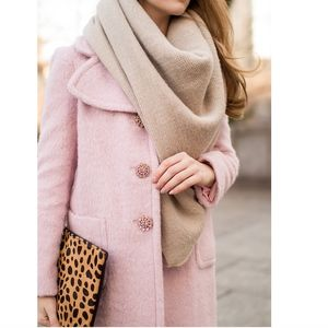 Kate Spade jeweled button pink coat